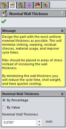 Nomina lWall Thickness Dialogue