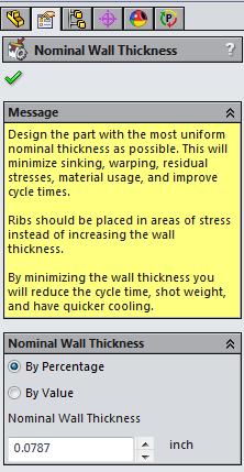 Nomina lWall Thickness Dialogue