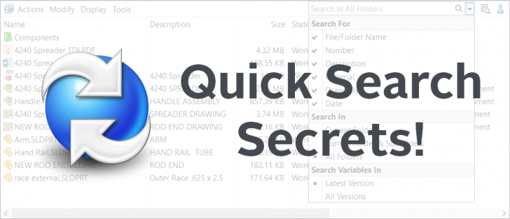 Navigating the New PDM Quick Search in SOLIDWORKS 2020