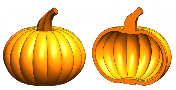 Picking out the pumpkin with SOLIDWORKS