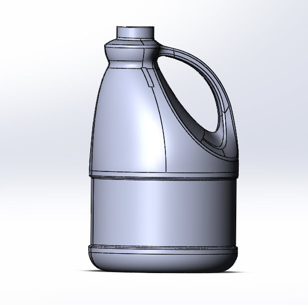 Drawing Angled Lines In Draftsight : Solidworks part reviewer bleach bottle tutorial