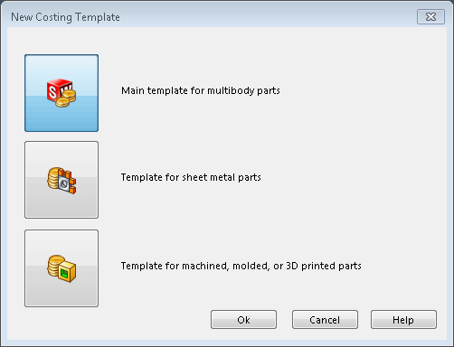 SOLIDWORKS Costing Templates