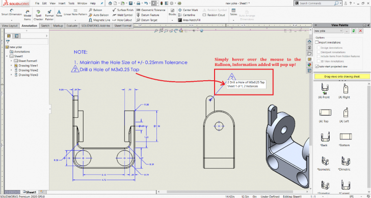Productive Tips and Tricks – SOLIDWORKS Drawings