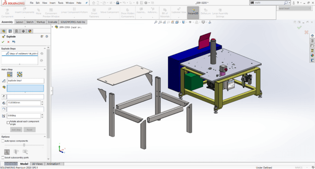 SOLIDWORKS 2020 Enhancement Exploded View for Multibody Part