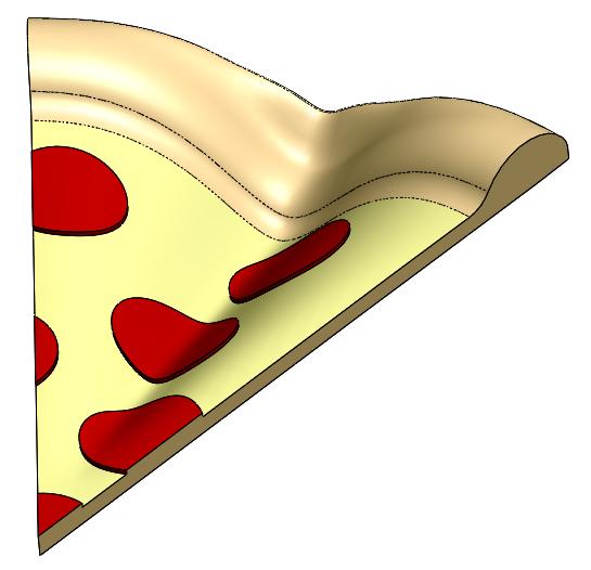Pinched Pizza 3D CAD Model