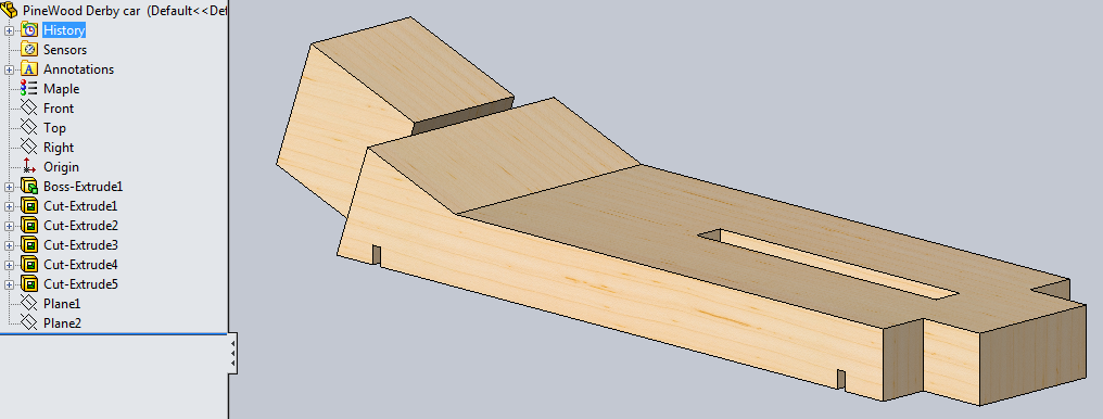 SOLIDWORKS and the Pinewood Derby – Pinewood Derby Template