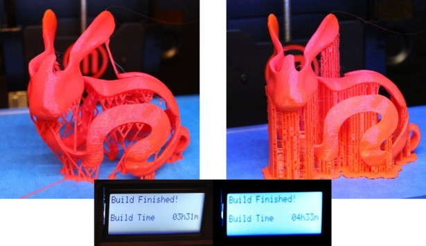 Voronoi shaped print with supports