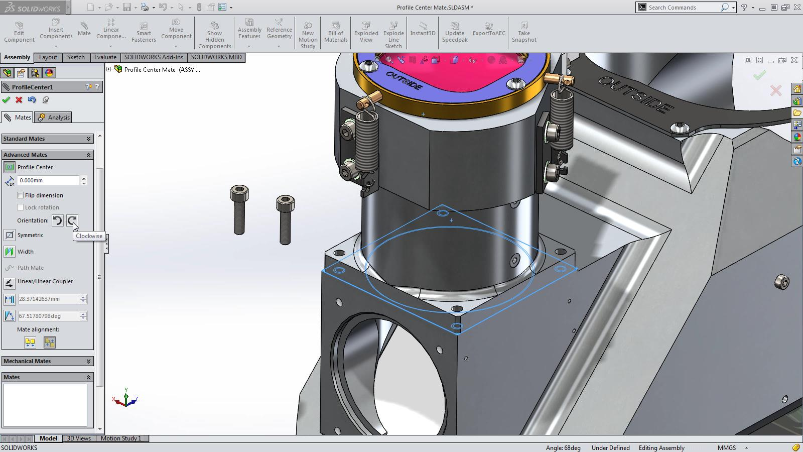 SOLIDWORKS 2015 Sneak Peek: Profile Center Mate