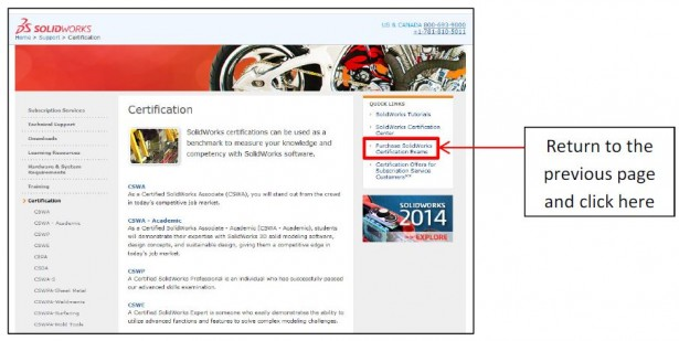 Purchasing a SOLIDWORKS Certification Exam