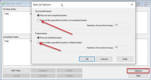 Reduce task list