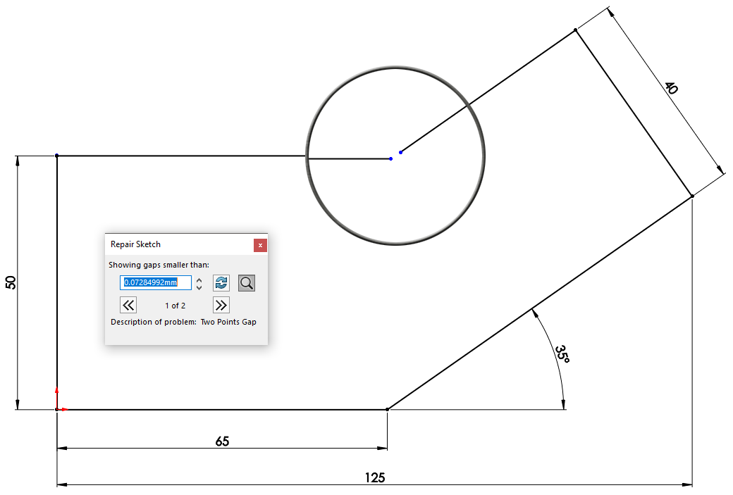 SOLIDWORKS: Fix your sketch with Repair Sketch