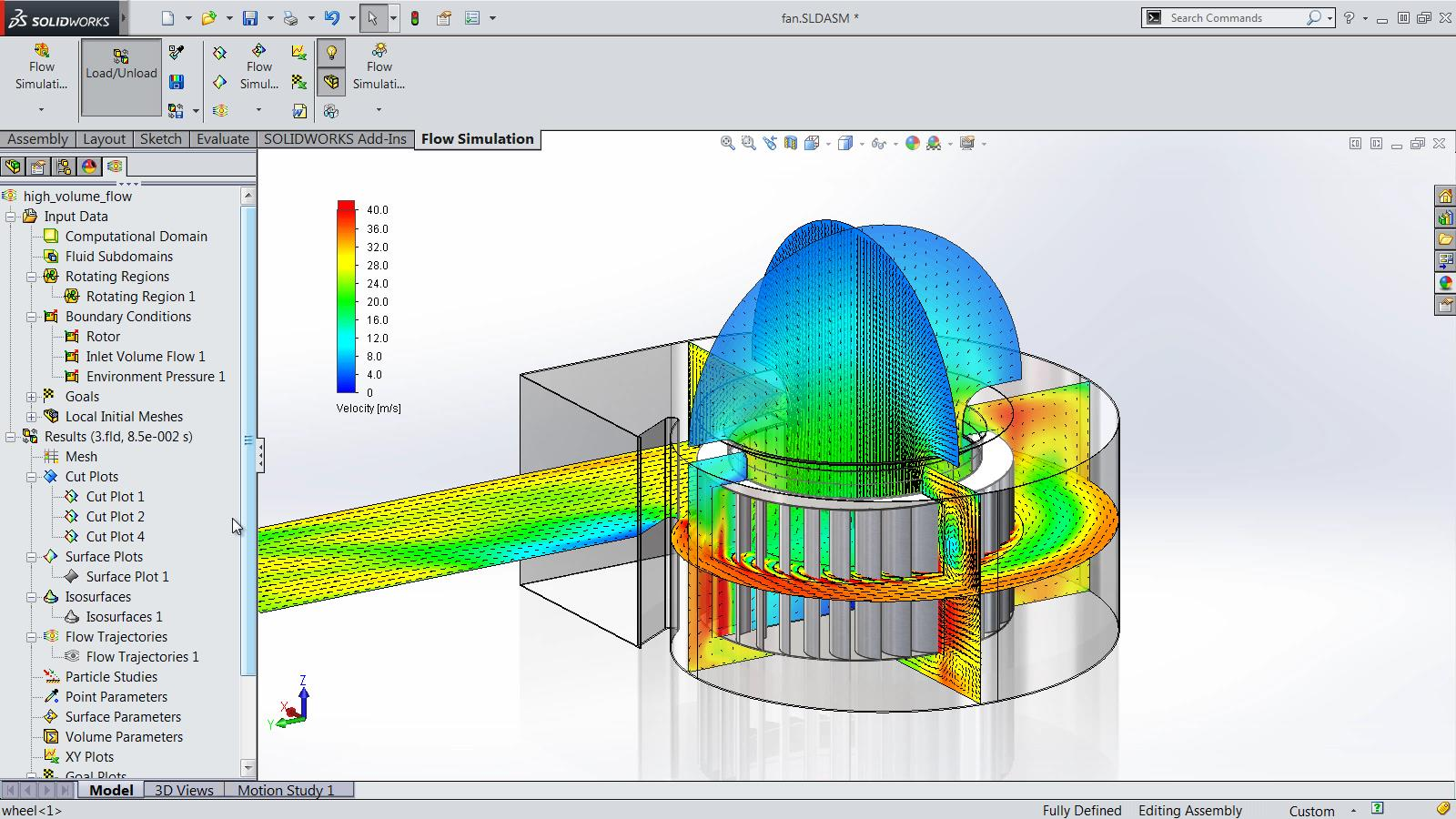 SOLIDWORKS 2015 Sneak Peek: Rotating Mesh Region for Flow Simulation