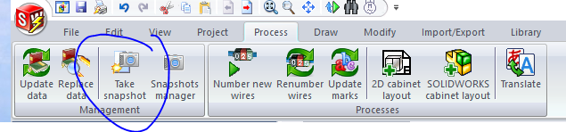 SOLIDWORKS Electrical Command Manager