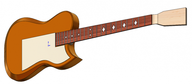 SOLIDWORKS Guitar Model Final