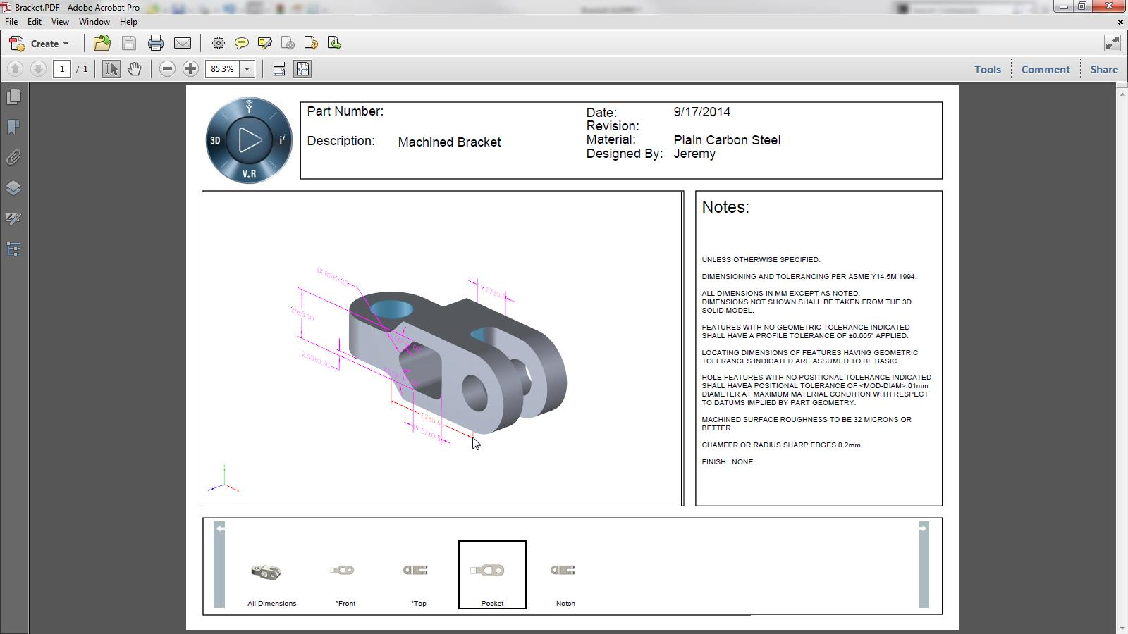 SOLIDWORKS 2015 Sneak Peek: SOLIDWORKS Model Based Definition