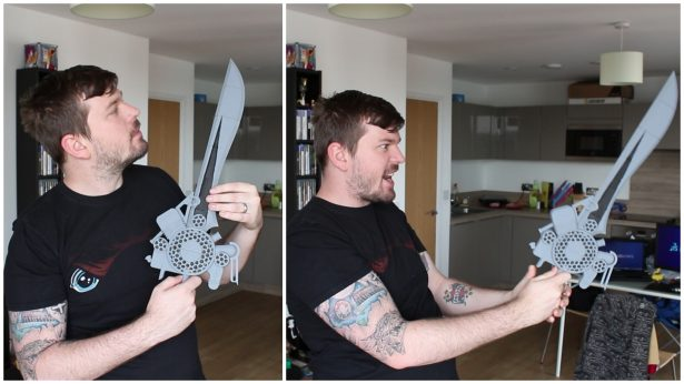 SOLIDWORKS Meets Final Fantasy Engine Sword 1