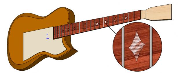 SOLIDWORKS Model of Guitar