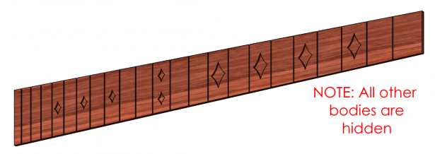 SOLIDWORKS Model of Guitar Body