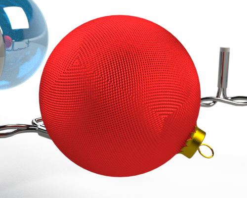 SOLIDWORKS Visualize Mesh Christmas Baubles