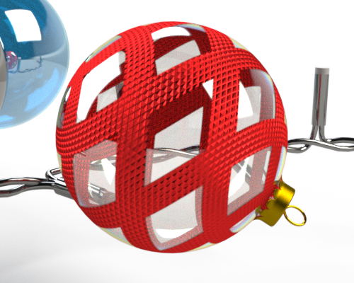 SOLIDWORKS Visualize Christmas Baubles