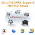 SOLIDWORKS Support Monthly News logo 2
