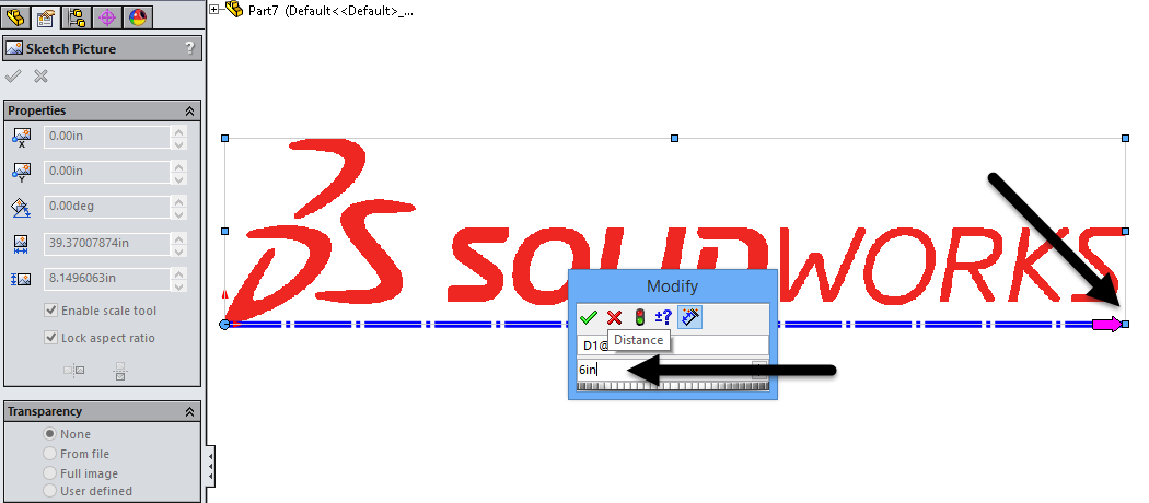 SOLIDWORKS TECH TIP: Sketch Picture Scale Tool
