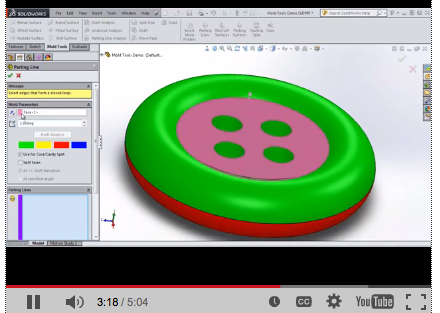 SolidWorks Mold Tools – 3 Part Video Series
