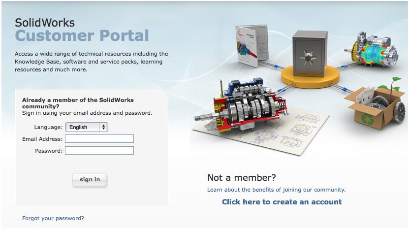 SOLIDWORKS Customer Portal Access