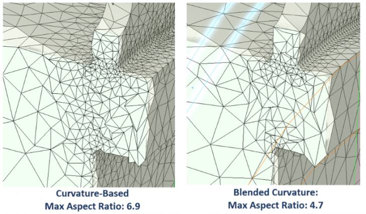The New Blended Curvature-Based Meshing Algorithm