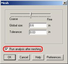 Run analysis after meshing - 2001