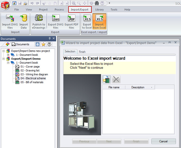 SOLIDWORKS ELECTRICAL 2015 Excel Export Import