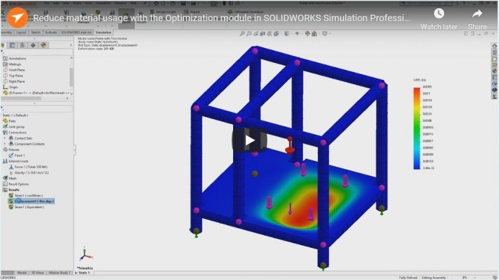 Reduce material usage with the Optimization module in SOLIDWORKS Simulation Professional