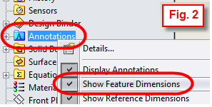 Show Feature Dimensions