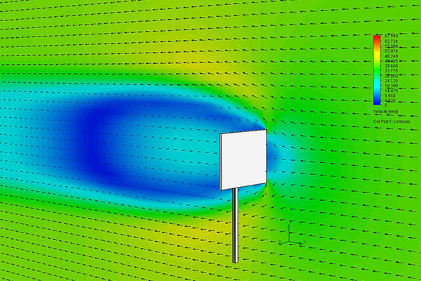 Simulation of a Stress Analysis with Flow Results
