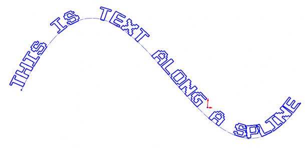 Sketch Text Sample Text along Spline
