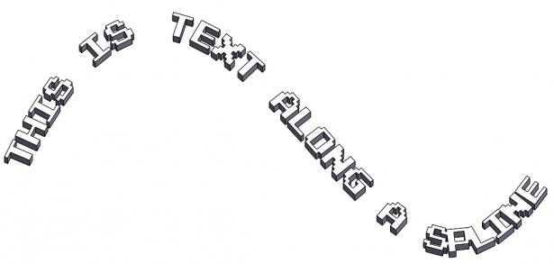 Sketch Text with Extrusions