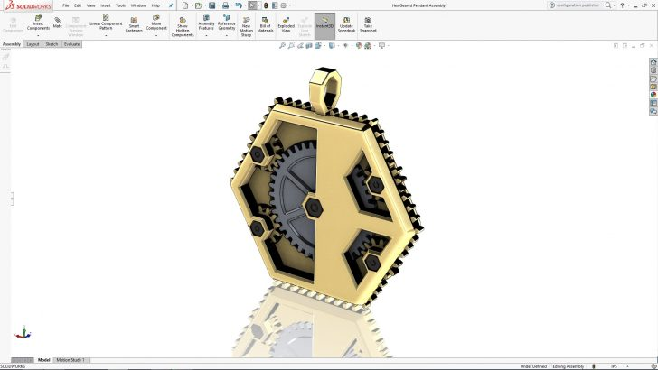 Hex Gear Pendant Part 3