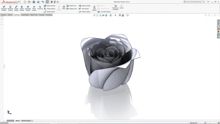 SOLIDWORKS Rose Tutorial – Part 2