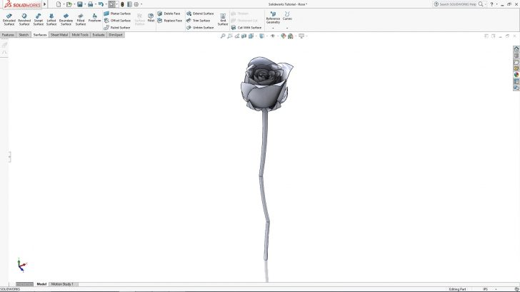 SOLIDWORKS Rose Tutorial – Part 3