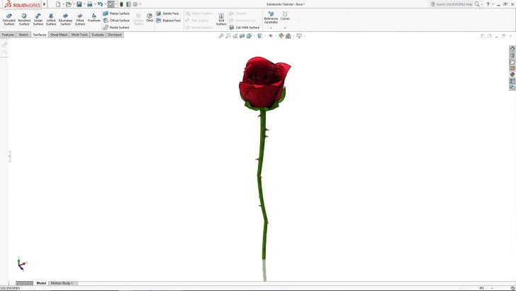 SOLIDWORKS Rose Tutorial – Part 4