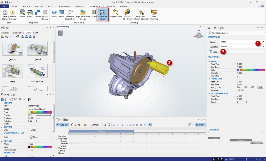 Beaches] Solidworks composer animation mp4