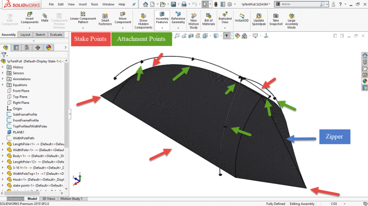 Taking to the Woods with a SOLIDWORKS-Designed Ultralight Tent