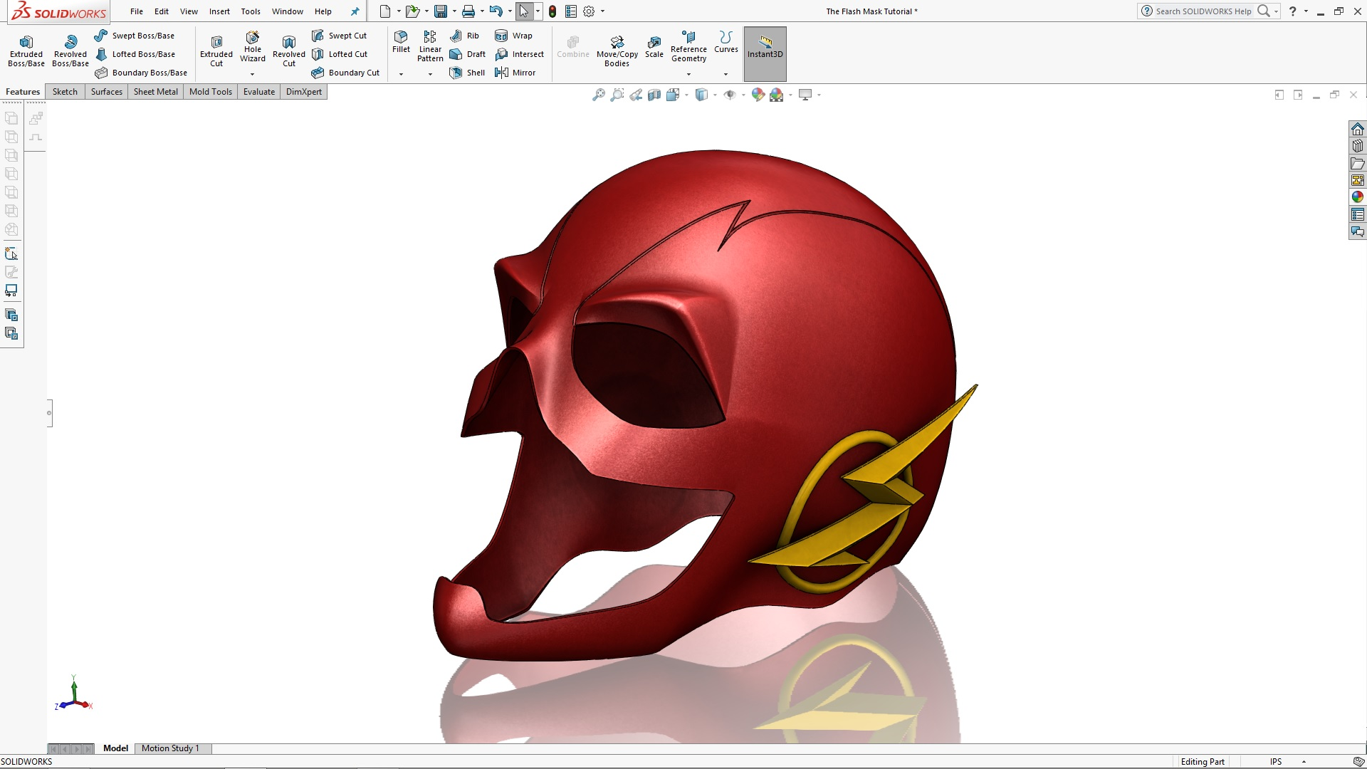 Solidworks Flash Mask Tutorial Series Part 1