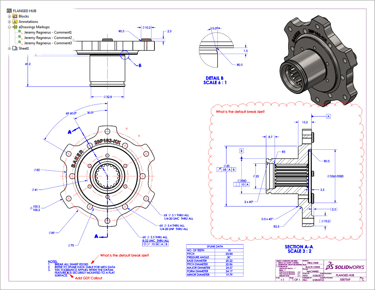 Tech Tip Tuesdays Edrawings Markups In Solidworks Drawings