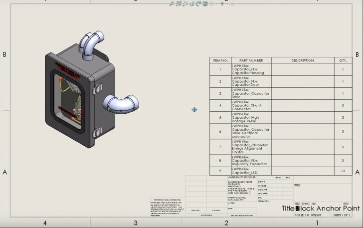SOLIDWORKS Tech Tip: Drawing Table Anchor Points