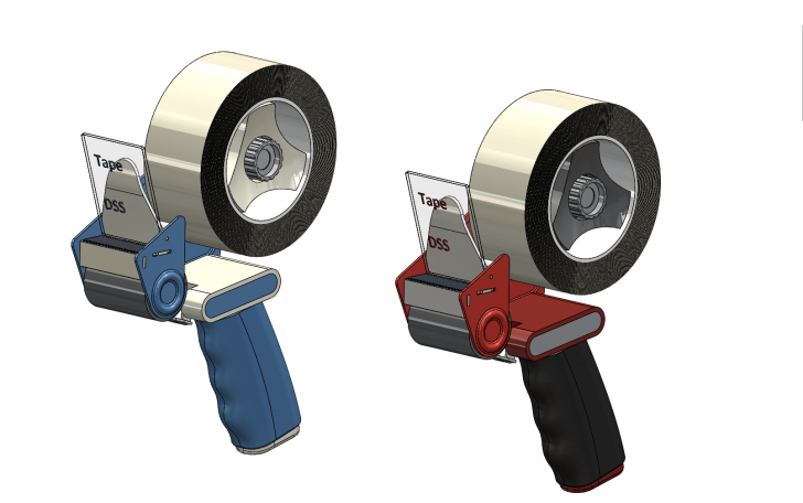 SOLIDWORKS Part Reviewer: Packing Tape Dispenser Tutorial