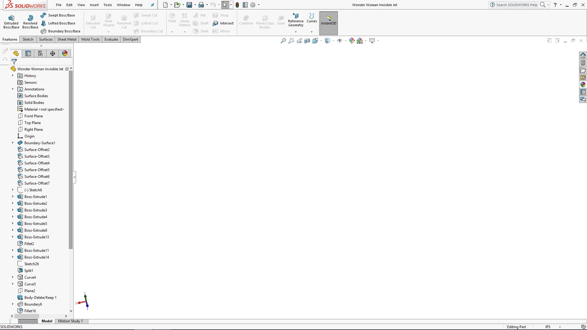 SOLIDWORKS Wonder Woman Tutorial - Invisible Jet