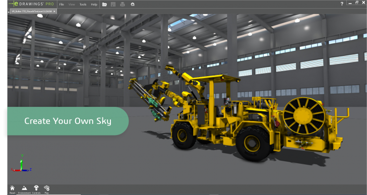 Creating Your Own Sky for VR Mode in eDrawings Professional 2020 using SOLIDWORKS Visualize