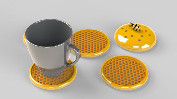 Beehive Coasters Set
