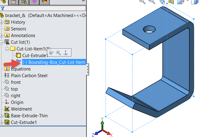 How To Create A Bounding Box For Any Part In Solidworks